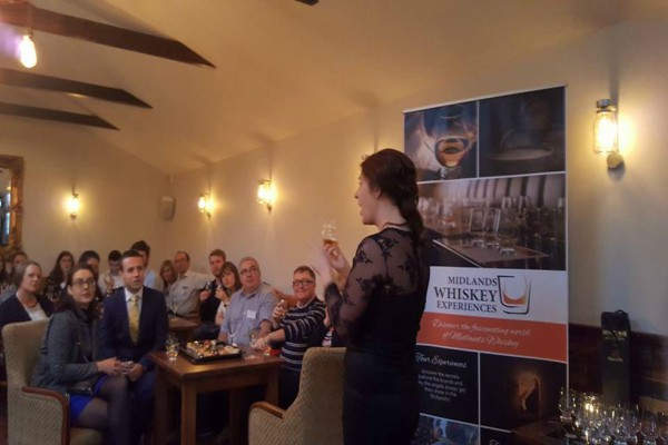corporate whiskey tasting event